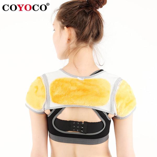 COYOCO Brand Gold velvet Belt Back Support Shoulder Guard Bamboo Charcoal Brace Gym Sport Back Pad Belts Keep Warm