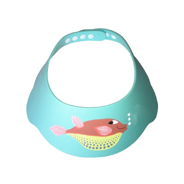 Adjustable Waterproof Baby Infant Shampoo Cap Soft EVA Fish Printed Shower Protect Bath Cap Wash Hair Shield Children Kids Care