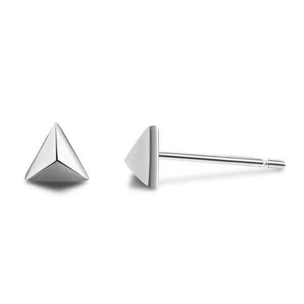 Nova Moda 925 Sterling Silver Earring para Mulheres Triângulo Brinco Jóias Bijoux Pequenos Presentes de Jóias de Casamento