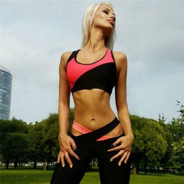 Women Ladies Yoga Clothing Set Summer Quick Dry Gym Fitness Clothes Sports Tights Tops Pants Leggings Jumpsuit Bandage Suit S-XL