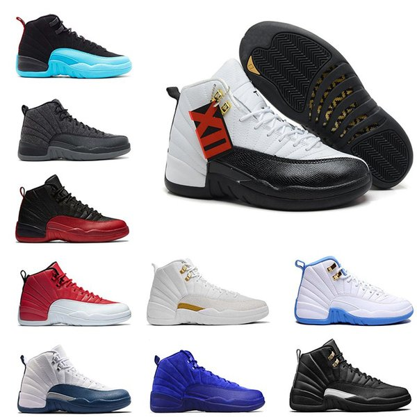 12s XII Taxi French Blue Flu Game Playoffs OVO Basketball Shoes Mens Womens Varsity Red Sneakers Athletic Shoes