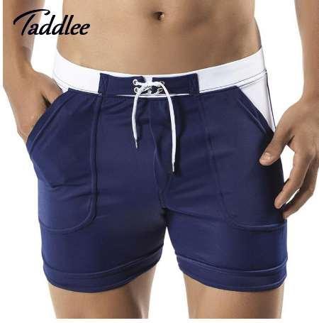 Taddlee Brand Mens Man Swimwear Swimsuits Swim Boxer Board Beach Shorts Trunks Bathing Suits Gay Men Surf Boardshorts Sport Gay