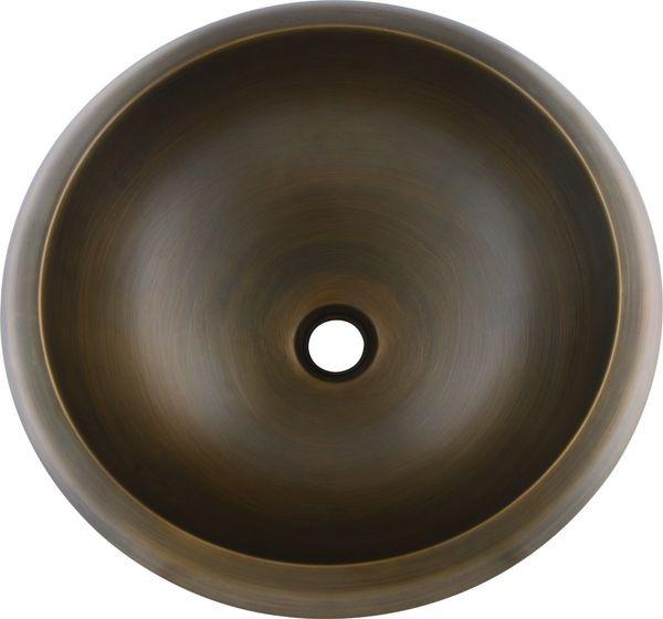 MODERN NEW COPPER ROUND STYLE UNDERMOUNT HAMMERED BATHROOM SINK BASIN Antique bronze COLOUR