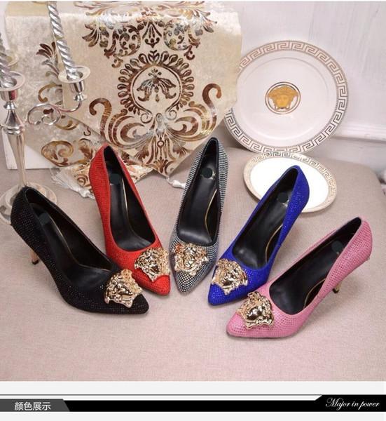 nouvelle arrivée classique mode dames sandales confortables banquet diamant tendance a la mode talons aiguilles en cuir femmes sandales