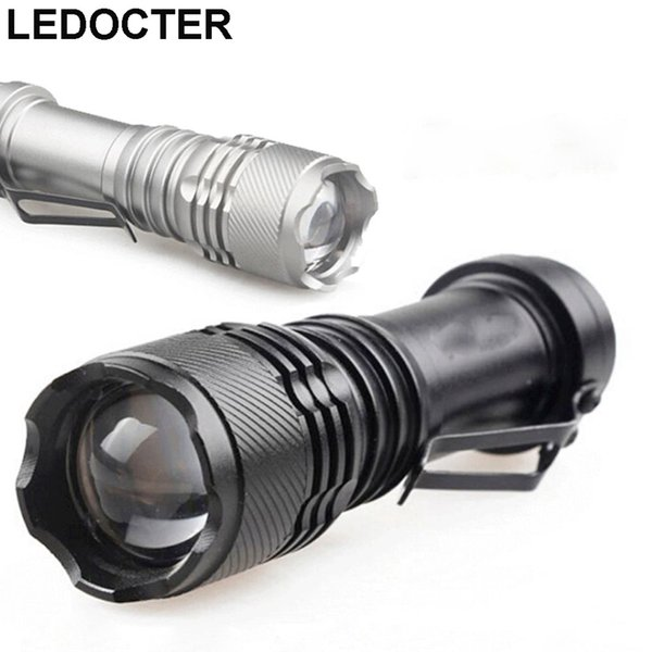 B502 Mini Pocket Waterproof Led Flashlight CREE XPE Zoomable LED Torch Light Belt Clip 3 modes Mini Night Light For Outdoor Hiking Camping