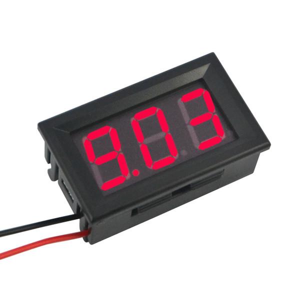 Digital Voltmeter Ammeter DC 100V 10A Red Blue LED Dual Voltage Amp Panel Guage Car Current Monitor Tester 4.5-30v Voltage Meter