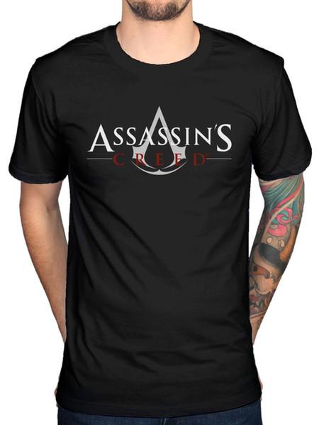 Resmi Assassins Creed Logo T-shirt Cal Lynch Gamer Bilim Kurgu Merch Kısa Kollu tee Gömlek Hipster O-Boyun Rahat toptan