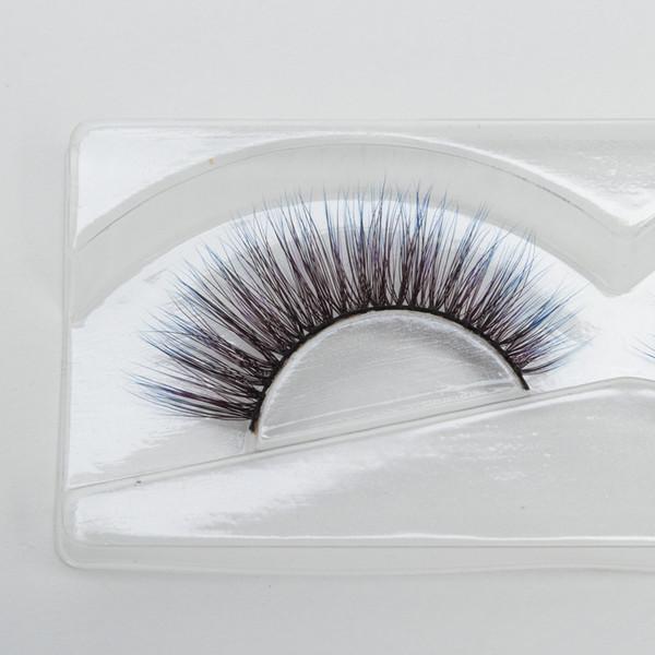 Seashine Professional manufactory of colorful silk eyelashes false silk lashes colorful silk customized style eyelash free shipping C10