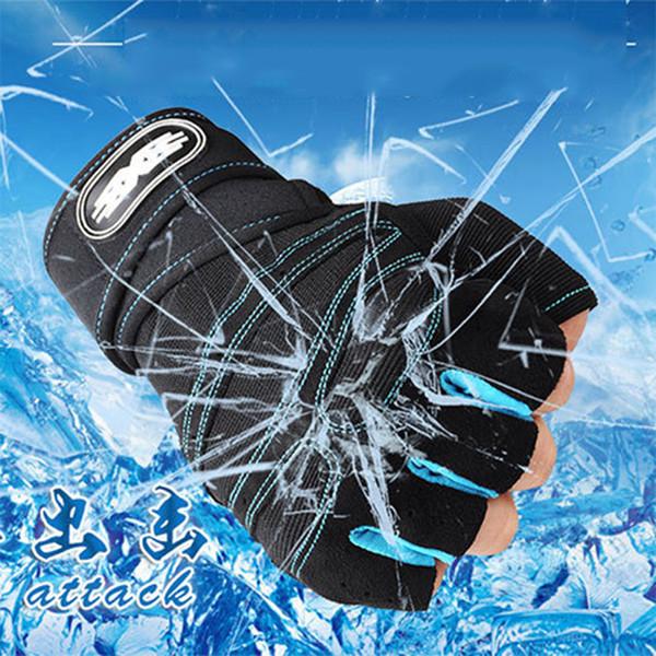 Sports Running Gloves Men Finger Protector Training Gloves Hiking Running Cycling Sports Anti Slip Bike