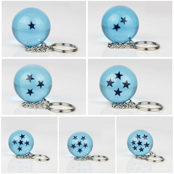 Dragonball Z Stars Crystal Resin BLUE dragon Ball star 7pcs box  3/'/' 7.6cm *USA*