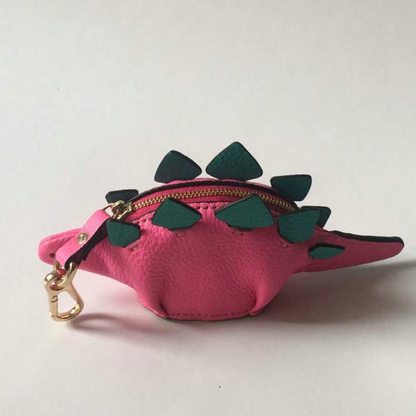 NOUVEAU! Véritable cuir fait à la main mignon dinosaur porte-monnaie sac à main de la mode des femmes en forme de mini sac d'argent portefeuille pochette de la jeune fille