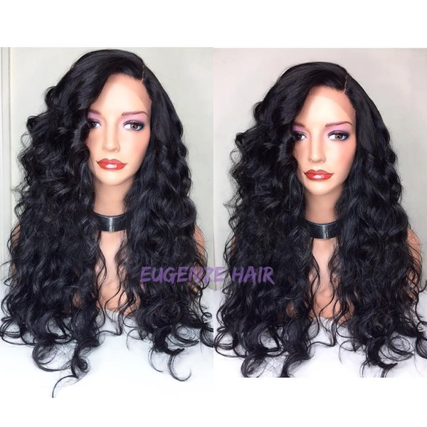 On sale new arrival pure virgin human hair natural color big curly long full lace top wig for women