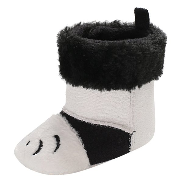 New Fashion Baby Autumn And Winter Baby Cartoon Animal Plus Velvet Boots Warm Boots Toddler Shoes