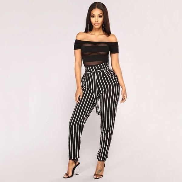 Plus Size 3XL Women Pants Drawstring Pockets Casual High Waist Pencil Women Trousers Autumn Summer New 2018 White Red Black