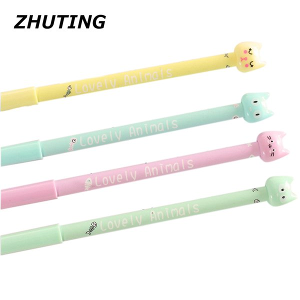 Lovely cartoon cat pencil pencil school supplies student child gift writing fluent 4 sale