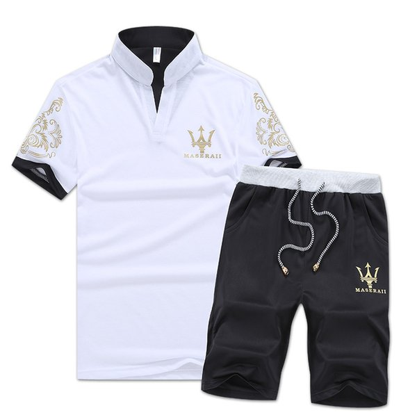 yoyooi / Marca Designer de Luxo Mens Treino T-shirt de Verão + Calça Sportswear Conjuntos de Moda de Manga Curta Corrida Jogging Melhor Qualidade Plus Size