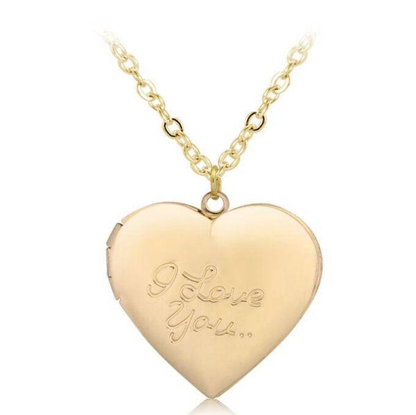 Herzförmige Freund Foto Bilderrahmen Mode Medaillon Anhänger für Halskette Romantische Modeschmuck Schönes Geschenk