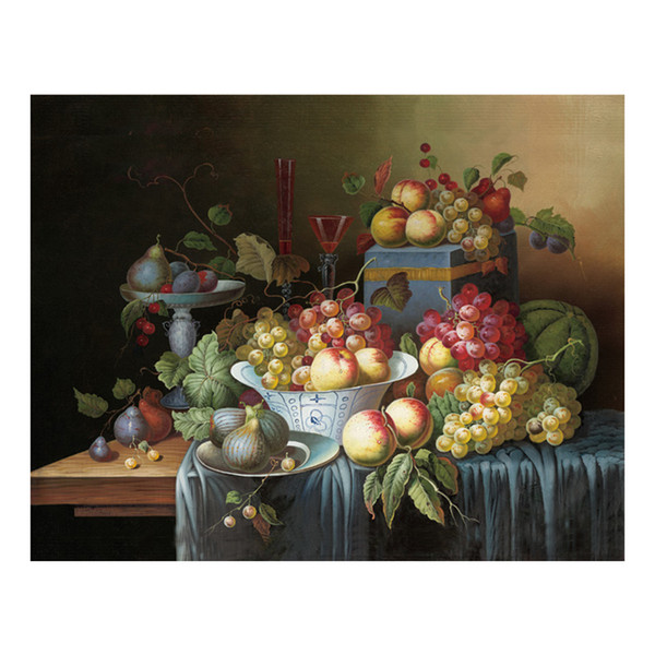Oil Painting Prints on Canvas Wall Art Picture for Living Room Home Decorations Unframed Hand-painted oil painting wine fruit
