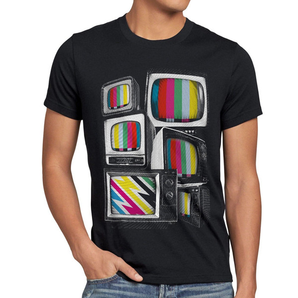 Test picture vintage III t-shirt-the image de test theory rétro BIG tv style nerd Bang us