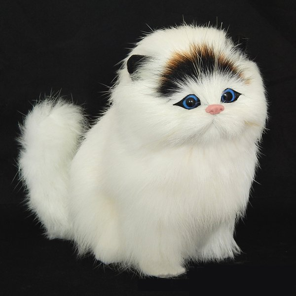 Real Hair Electronic Pets Cats Dolls Simulation Animal Cat Toy Plush Toys  Model Cat Girl Children Gift Pussy Sonorific