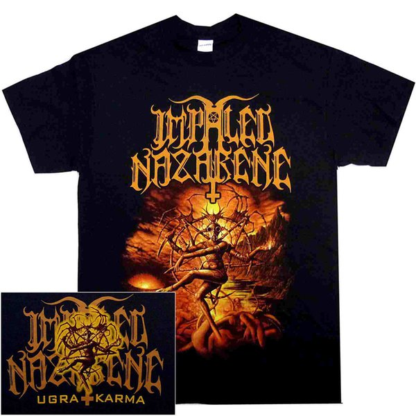 Impaled Nazarene Ugra Karma Shirt S M L X Black Metal T-Shirt Cheap Sale 100 % Cotton T Shirt for Boys Chinese Style