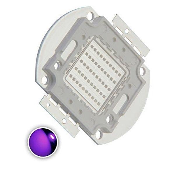 High Power Led Chip 50W Purple Uv (375nm)Ultraviolet SMD COB Light Emitter Components Diode 50 W Ultra Violet Bulb Lamp Beads DIY Lighting