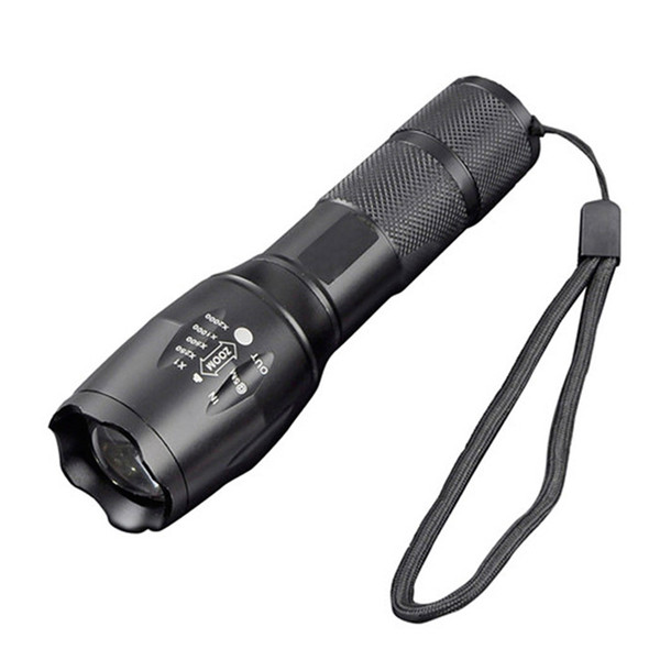 High Power Waterproof led T6 strong light flashlight / rechargeable 18650 Torch Laser LED Flashlight For Outdoor Camping Bike Night lightin