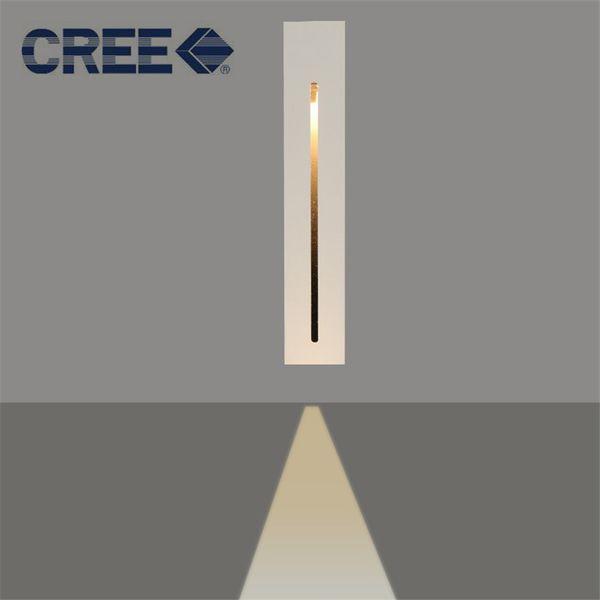 Retangle Gömme Led Zemin Işıkları 2 W Teras Merdiven Aydınlatma Led Adım Işık Kapalı Gömme Duvar Işık Lambası AC100-240V Beyaz siyah footlight
