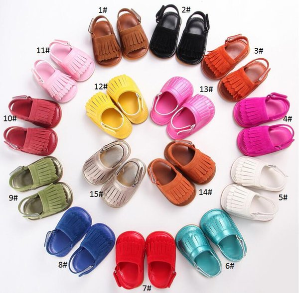 First Walker Baby Shoes Children Summer Sandals Infant Boys Girls Soft Soled Kids Footwear Toddler 6 pairs