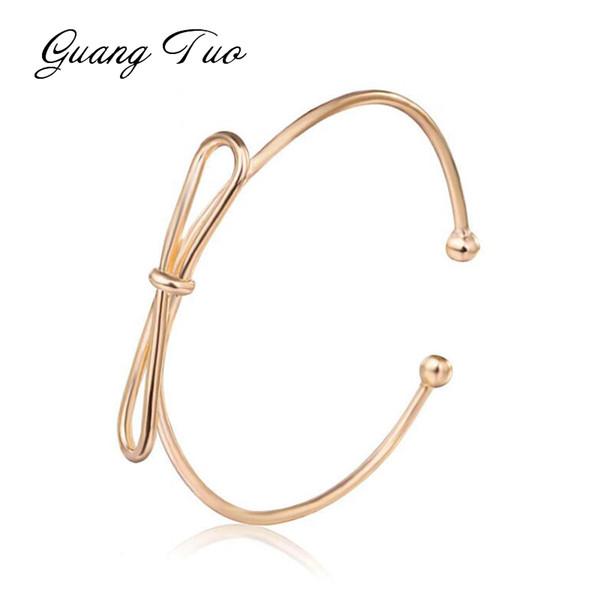 SL009 Nouveau Mode Femmes Bracelet Bracelets Femme Coréenne Personnalité Arc Ouverture Simple Bracelets Mignon Fille Femmes Bijoux En Gros