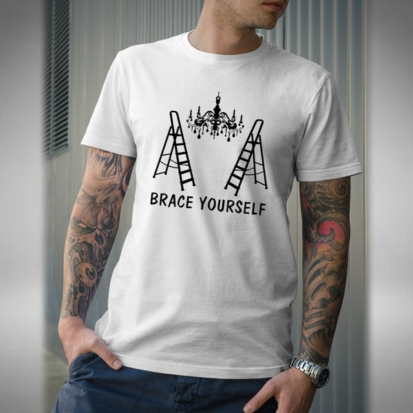 Brace Yourself Mens T-Shirt Only Fools and Horses Inspired Trotters Chandelier Newest Top Tees Fashion Style Men tee