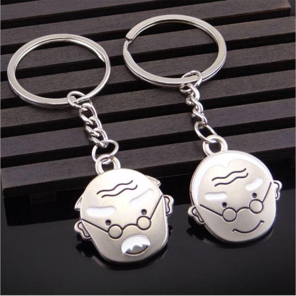 Porte-clés intelligent 1pair grand-père et grand-mère grandissent ensemble porte-clés pour femme et homme livraison gratuite