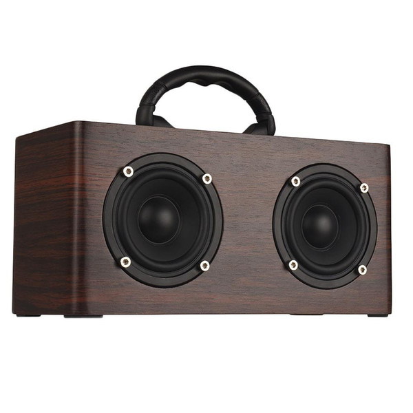 W9 Retro Wooden Bluetooth Speaker Portable Multi-Functional Outdoor Home Hip-Hop Street Dance Double Speaker Audio Subwoofer