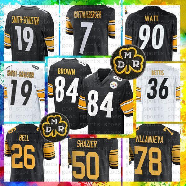 84 Antonio Brown Pittsburgh Steelers Jersey 19 Juju Smith-Schuster 90 T.J. Watt 50 Ryan Shazier 7 Ben Roethlisberger 26 Le'Veon Bell