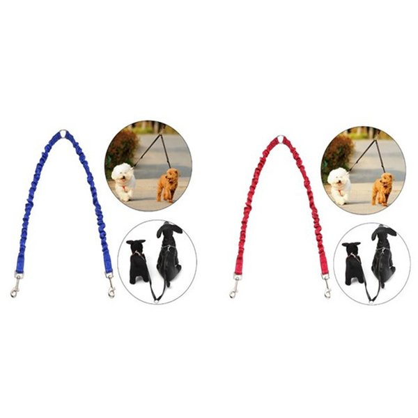 Two Dogs Use Practical Waking Pets Leashes Puppy Training Anti Winding Practical Pull Rope Stretchy Dog Leash New 6 5sm Z