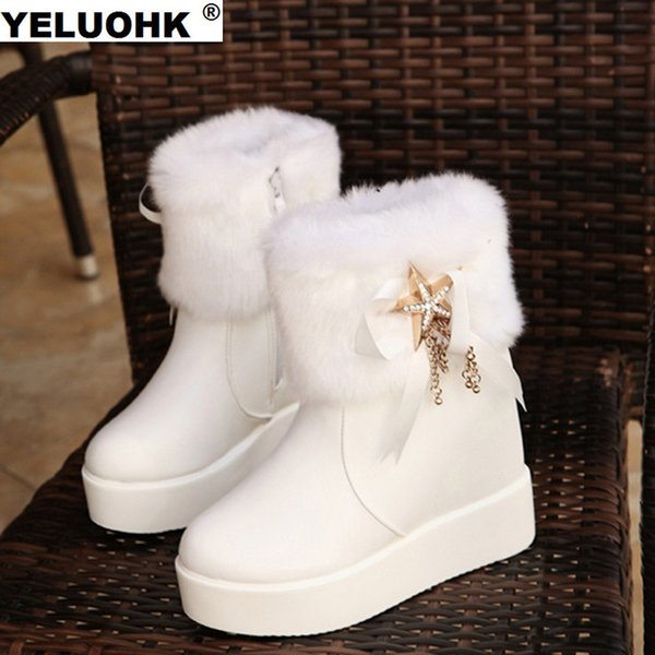2017 New Waterproof Winter Boots Women Shoes Casual Platform Shoes Ankle Boots For Women High Plush Snow