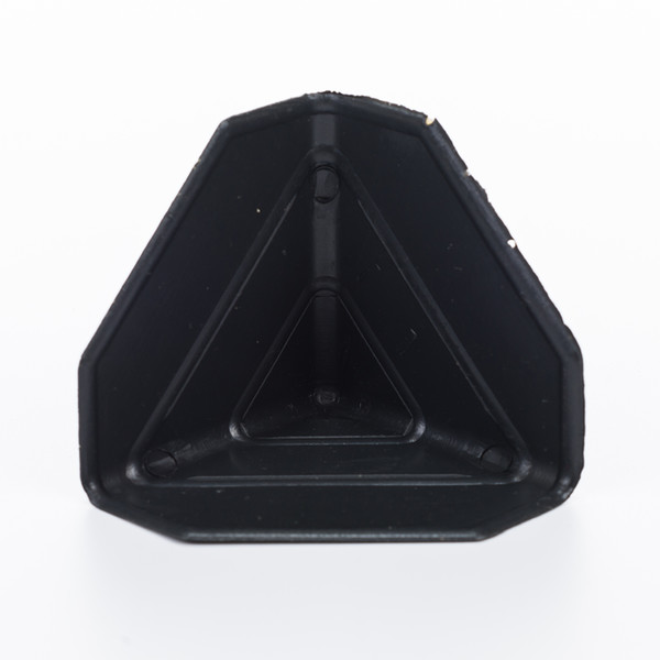 best selling 60*60*60*1mm size Black Plastic Packing Corner Protector Shipping Edge Cover package corner guard for fragile goods delivery us