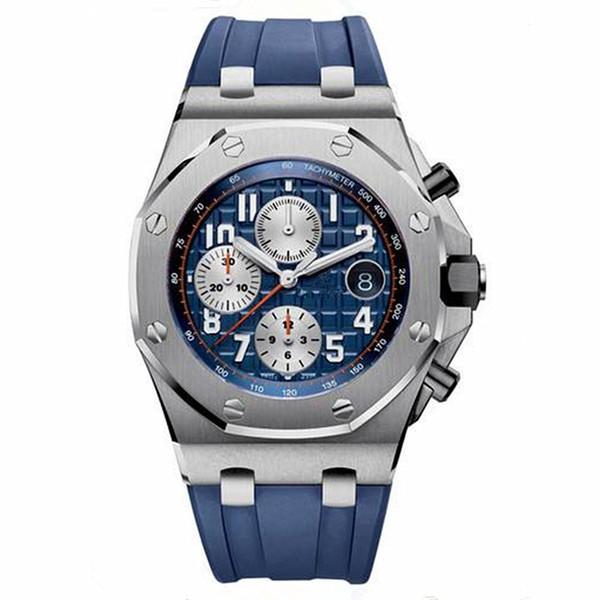 Luxury Brand Royal Oak Offshore Series Men Watches Montre Homme All Subdials Work Swiss Quartz Watch Men Reloj Hombre Chronograph Male Clock