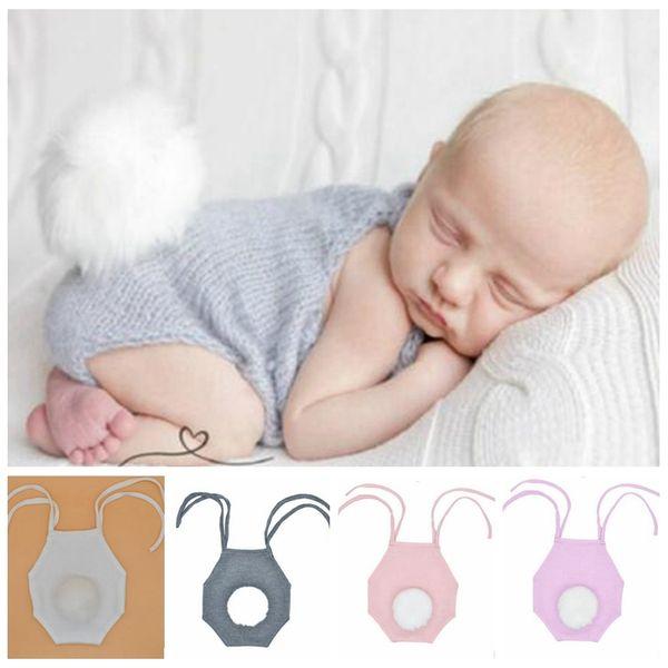Девочка одежда новорожденный цветочный принт комбинезон младенческой трикотажные комбинезон с белым искусственного меха помпон хвост новорожденный фото опора YL111