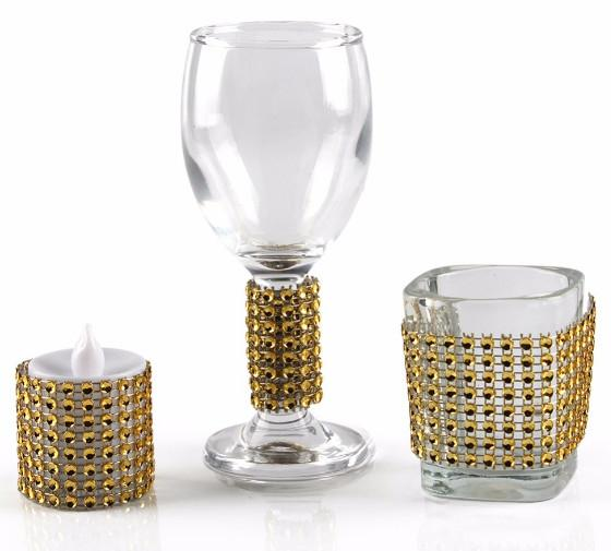 Wholesale free shipping Diamond Napkin Rings for Wedding Napkin Holders Rhinestone Chair Sashes Banquet Dinner Christmas Table Decoration