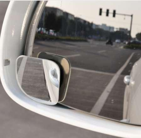 Car Styling 2pcs Clear Car Rear View Mirror 360 Rotating Safety Wide Angle Blind Spot Mirror Parking Round Convex Accessories
