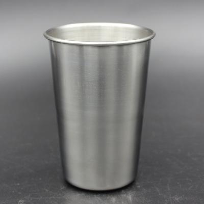 best selling 16oz Stainless Steel Pint cup metal beer mug Unbreakable BPA free Eco-friendly For Drinking Made of Food Grade Quality