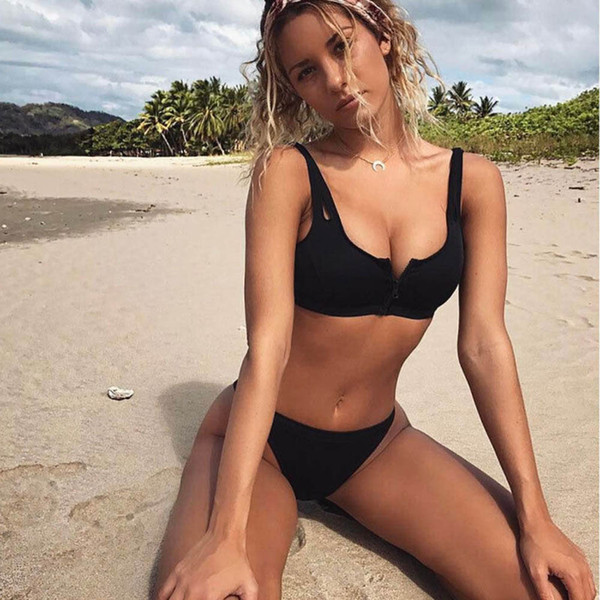 2018 New Women Bikini Set Bandage Push Up Padded Swimwear Female High Waisted Bathing Suit Beachwear Swimsuit Brazilian Biquini