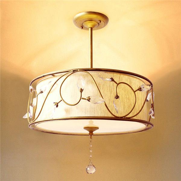 New Modern Luxury crystal Pendant Lights Round Kitchen Inverted Drum Crystal pendant Lamp Fixture home lighting B007