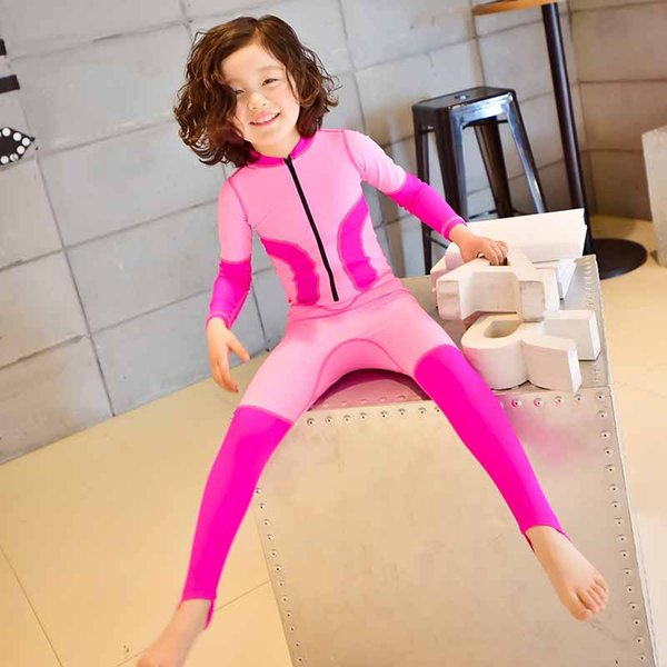 """""""One-Piece Unisex Swimwear Costumes Surfing Clothes Beach Bathing Suit Long Sleeve Sports Swimsuit Baby Children Swimwear Hot products soft"""