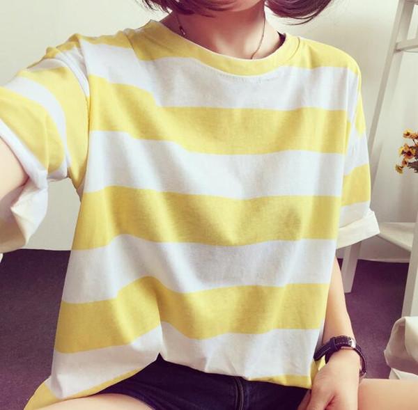 2018ss ASAP Rocky marca new homens listrados casuais t-shirt de manga curta mulheres Bordado moda tees tops camiseta camisetas M-2XL 009