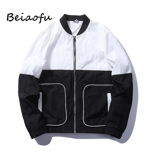 Beiaofu Marka Erkekler Casual Giyim Bahar Ceket Streetwear Erkek Ceketler Eğlence Ceket Yeni Moda Palto Sıcak Satış Coats