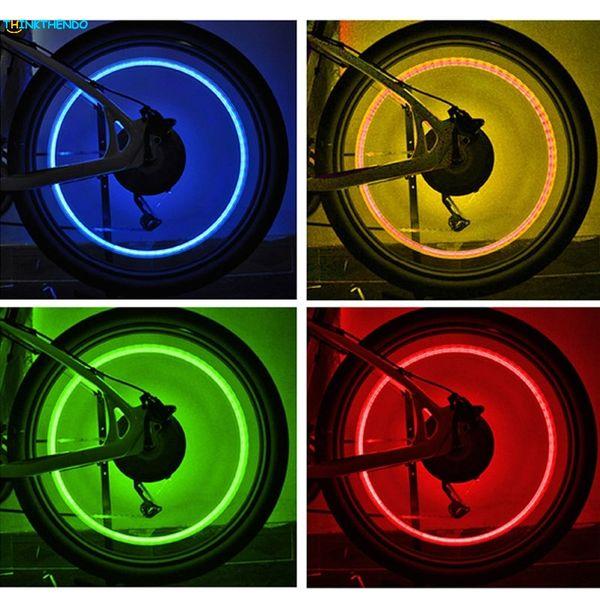 2pcs Skull Shape Valve Cap LED Light Wheel Tyre Lamp For Car Motorbike Bike New