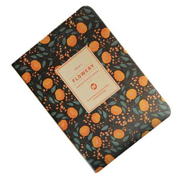 best selling Cute Flower Planner Notebook Notepad weekly plan Diary Calendar student schedule weekly Stationery(yellow flowers)