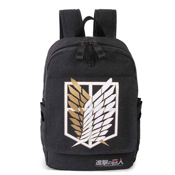 Japanese Anime Attack on Titan Backpack for Teenagers Boys Canvas Cartoon Schoolbag for Teenage Girls Campus Bookbag